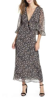 Amuse Society Besos Besos Baby Knot Front Maxi Dress