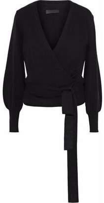 Co Stretch-Knit Wrap Sweater
