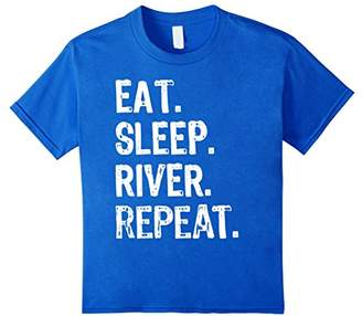 Eat Sleep River Repeat - Funny Pontoon Floating T Shirt