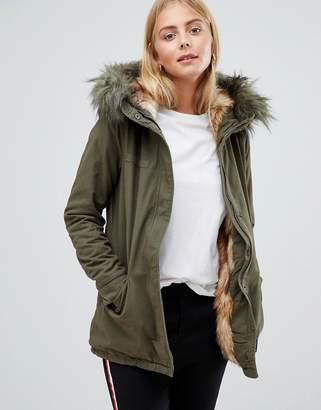 Only Danielle Faux Fur Hood Parka