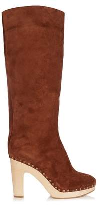álvaro - Shearling Lined Suede Boots - Womens - Tan