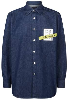 Raf Simons Denim Logo Patch Shirt