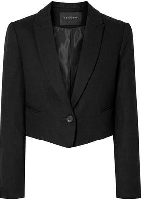 Equipment Wright Cropped Wool Blazer - Black