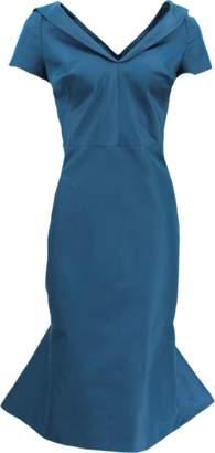 Zac Posen Flounce Bottom Fitted Dress