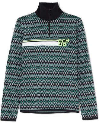 Prada Intarsia Knitted Sweater - Green