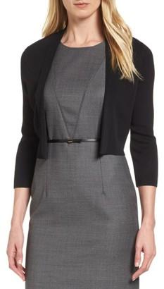 Women's Boss Fern Short Open Front Cardigan $225 thestylecure.com