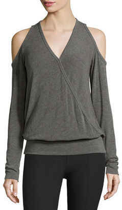 Bailey 44 Big Hit Surplice Cold-Shoulder Sweater $94 thestylecure.com