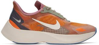 Nike Orange and Purple Vapor Street Peg Sneakers