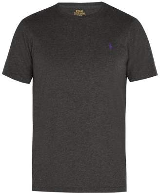 Polo Ralph Lauren Logo Embroidered Cotton Jersey T Shirt - Mens - Grey