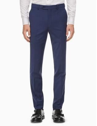 Calvin Klein x-fit solid slim fit blue suit pants