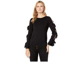 CeCe Slit Bell Sleeve Sweater w/ Bows