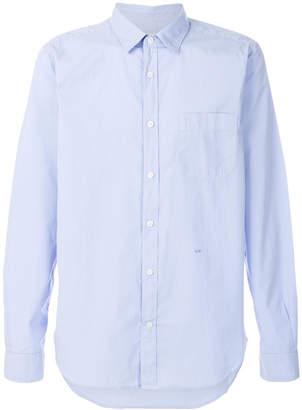 Closed basic curved hem shirt