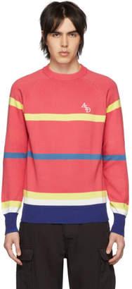 Leon Aime Dore Pink Striped Monogram Crewneck Sweater