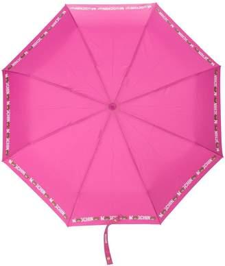 Moschino logo print umbrella