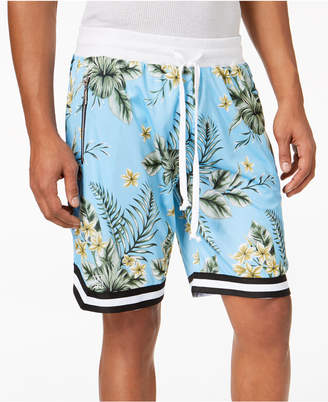 American Stitch Men's Floral-Print Mesh Drawstring Shorts