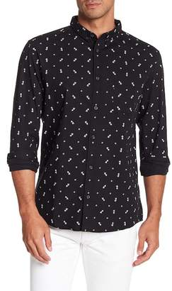 Quiksilver Front Button Print Modern Fit Woven Shirt