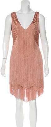 Haute Hippie Silk Fringe Dress w/ Tags