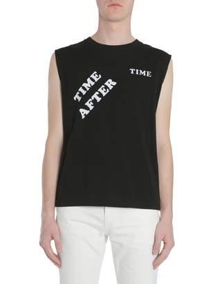 Saint Laurent Raw Edge Sleeveless T-Shirt