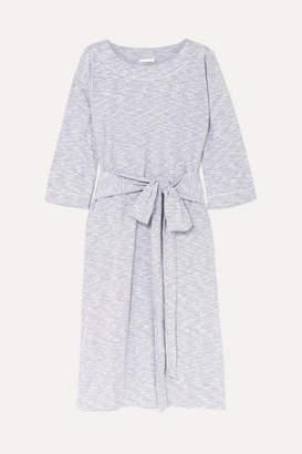 Melange Home Skin - Freda Cotton-blend Jersey Nightdress - Light gray