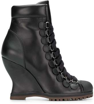Chloé wedge ankle boots
