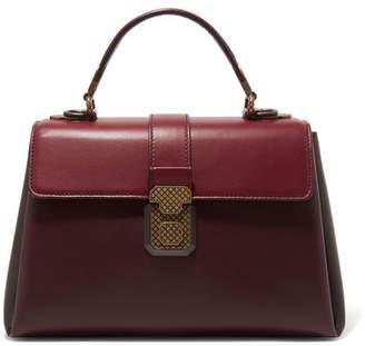 Bottega Veneta Piazza Medium Color-block Leather Tote - Burgundy
