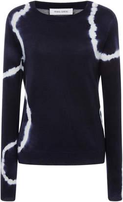 Prabal Gurung Tie-Dye Crewneck Cashmere Sweater