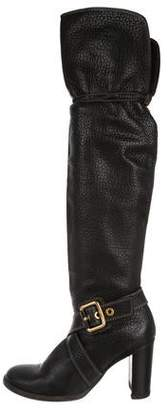 Dolce & Gabbana Round-Toe Over-The-Knee Boots