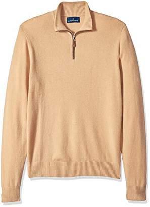 Buttoned Down Men's 100% Premium Cashmere Quarter-Zip Sweater