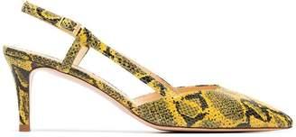 Kalda Ringi 65 Snake Embossed Slingback Heels
