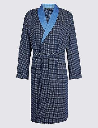 Marks and Spencer Supima® Cotton Dressing Gown with Belt