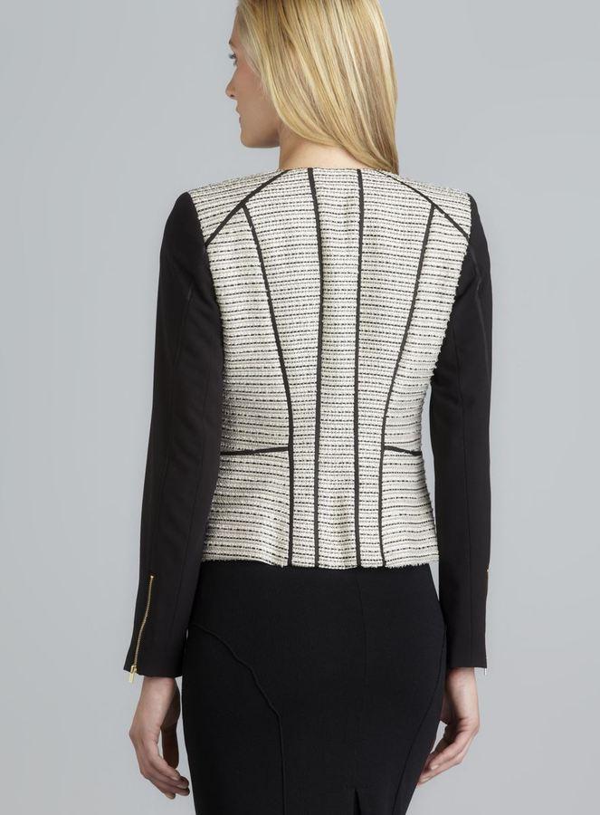 Calvin Klein Two Pocket Zip Cuff Piping Detail Zipper Jacket