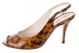 Gucci Peep-Toe Slingback Sandals