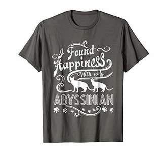 Abyssinian Cat Shirt - Happiness With Abyssinian Cat T Shirt