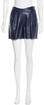 Derek Lam Leather Mini Shorts