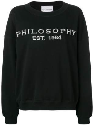 Philosophy di Lorenzo Serafini embroidered logo sweatshirt