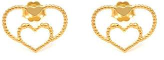 Assya Gold Heart Earrings