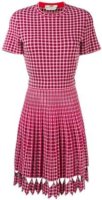 Fendi check fitted dress