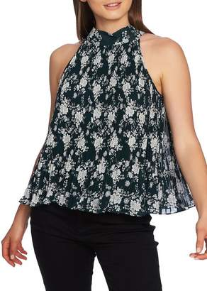 1 STATE 1.State Forest Pleat Halter Top