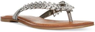 Carlos By Carlos Santana Heron Jeweled Thong Sandals $69 thestylecure.com