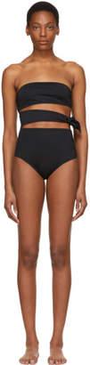 Proenza Schouler Black Bandeau Side Tie Swimsuit