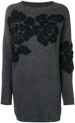 Twin-Set flower intarsia jumper