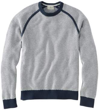 L.L. Bean L.L.Bean Men's Cotton/Coolmax Performance Crewneck Sweater, Slightly Fitted Long-Sleeve