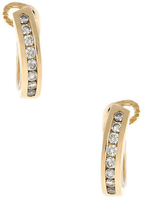 One Kings Lane Vintage Tiffany & Co Diamond Hoop Earrings