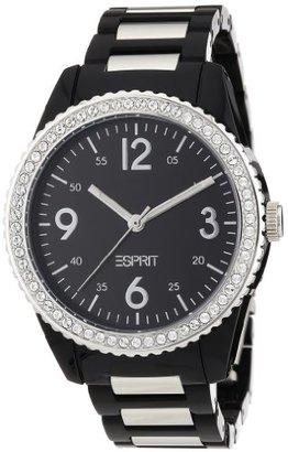 ESPRIT Women's ES105212001 Marin Disco Black Analog Watch $105 thestylecure.com