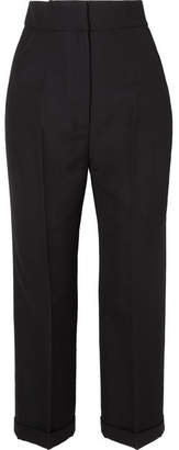 Jacquemus Cariño Cropped Crepe Straight-leg Pants - Black