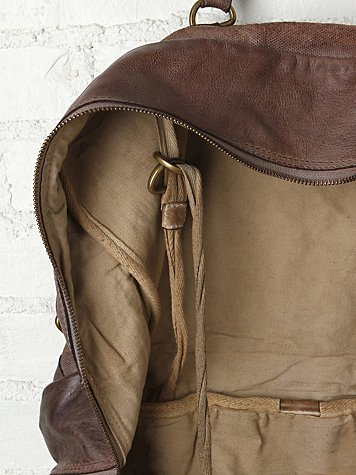 Free People Vive Le Difference Washed Leather Tote