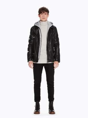 Scotch & Soda Layered Leather Jacket