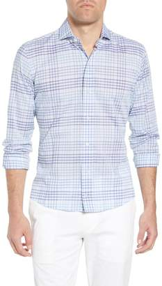 Ledbury Edmond Slim Fit Plaid Sport Shirt