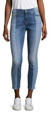 7 For All Mankind Studded Skinny Ankle Jeans