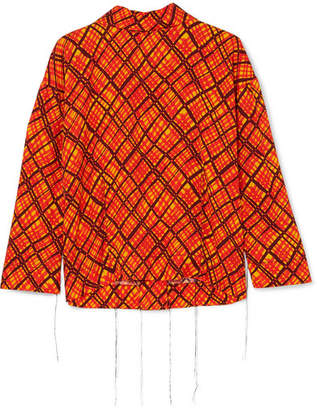 Marni Printed Crepe Top - Orange